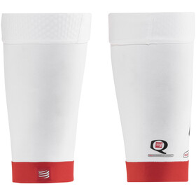 Compressport Trail - Collants - rouge/blanc